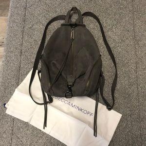 Rebecca Minkoff Gray Suede Medium Julian Backpack